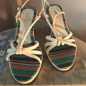 Shoes - Open-Toed White Wedges